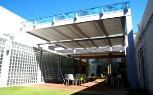 Horizontal Glass Atria Awnings (Rolling)