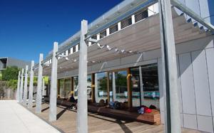 Horizontal Glass Atria Awnings (Pleated)